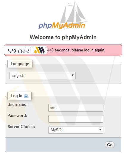 login phpmyadmin - آموزش نصب بسته نصبی قالب وردپرس یا Quickstart + ویدئوی آموزشی گام به گام