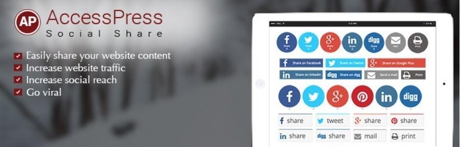 افزونه AccessPress Social Share