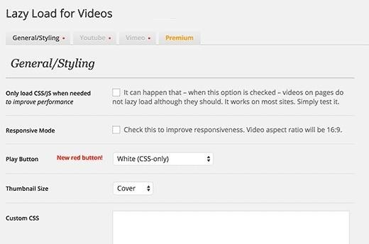 Lazy Load for Videos 02 - افزایش سرعت سایت های ویدئویی در وردپرس