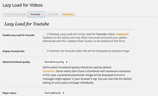 Lazy Load for Videos 03 - افزایش سرعت سایت های ویدئویی در وردپرس