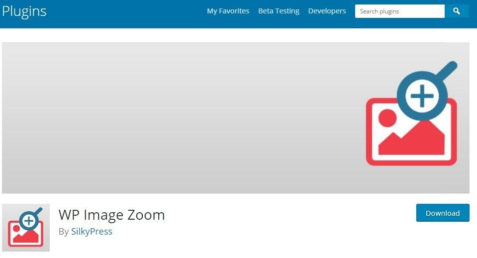 بزرگ نمایی عکس در وردپرس با افزونه WP Image Zoom
