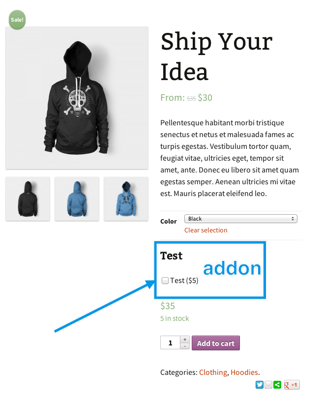 product addon variable product - افزونه Woocommerce Product Addons (افزودنی های ووکامرس)