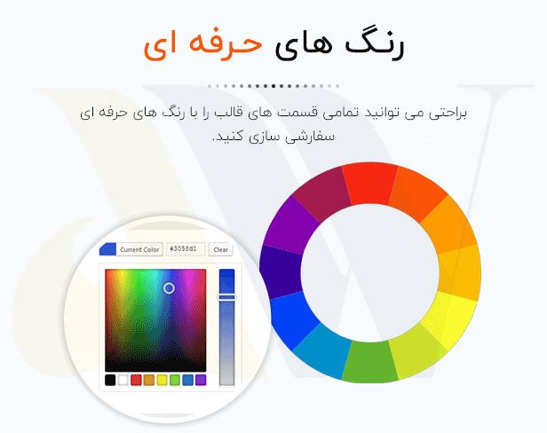 رنگ های حرفه ای