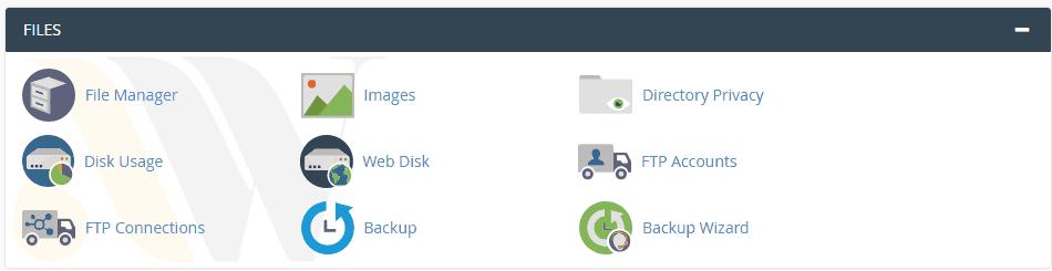 مدیریت فایل cpanel