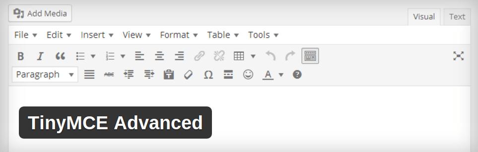 افزونه TinyMCE Advanced