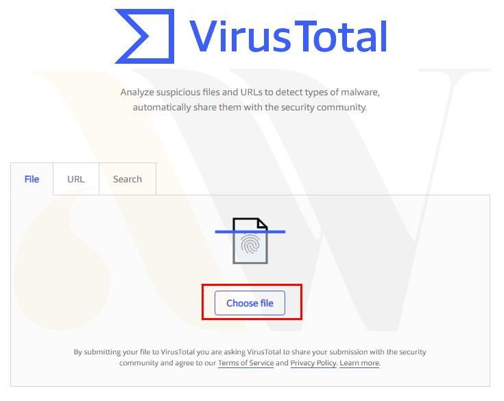 سایت توتال ویروس برای تشخیص نال بودن قالب