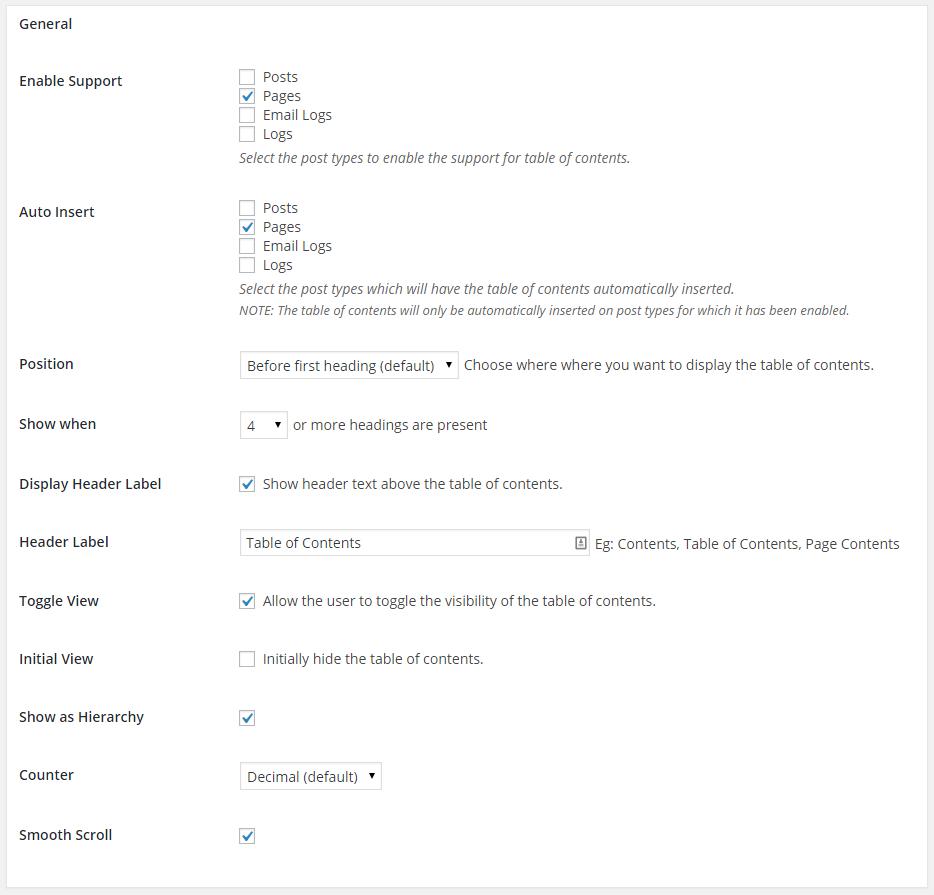 esay table - ایجاد فهرست محتوا در وردپرس با افزونه Easy table of content به ساده ترین روش