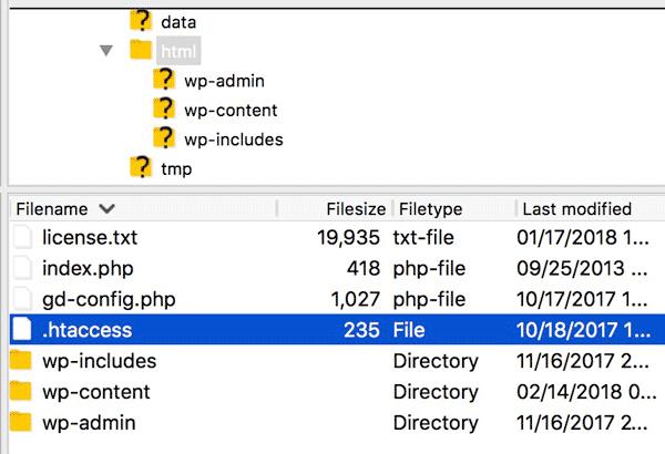 ویرایش فایل .htaccess