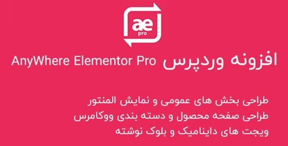 افزونه AnyWhere Elementor pro | بهترین افزودنی صفحه ساز المنتور