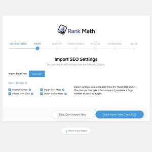 Rank Math Import SEO Settings