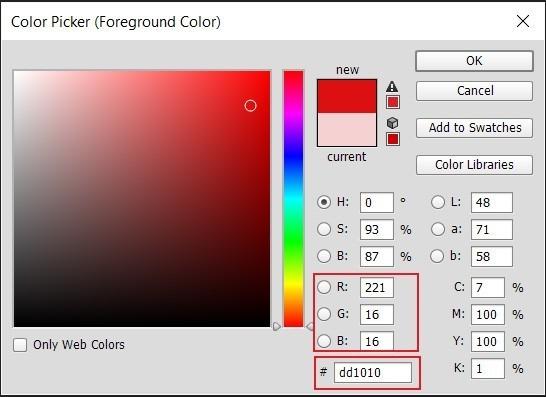 معرفی رنگ ها در html