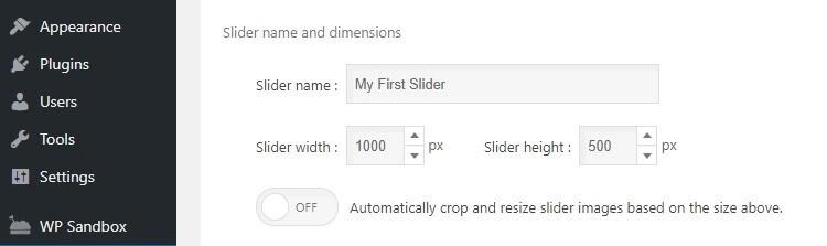 تنظیمات اسلایدر
