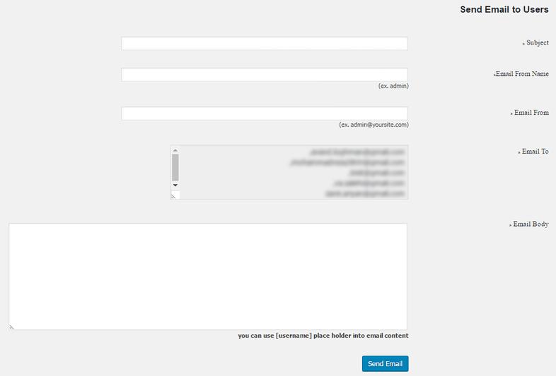 افزونه ارسال ایمیل گروهی در وردپرس 3 - ارسال ایمیل گروهی در وردپرس با افزونه Mass Email To Users