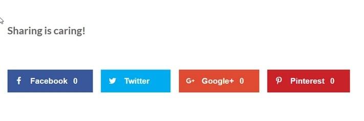 social sharing buttons11 - 3 روش ساده برای افزودن دکمه های اشتراک گذاری به وردپرس