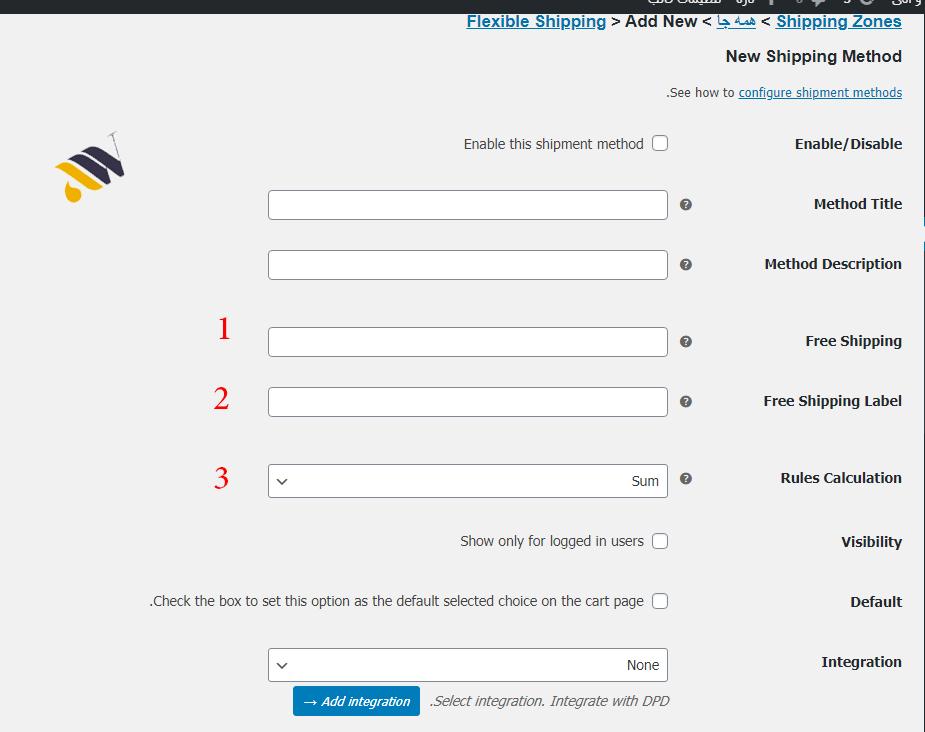 1234567 - محاسبه هزینه حمل و نقل کالا در ووکامرس با افزونه Flexible Shipping for WooCommerce