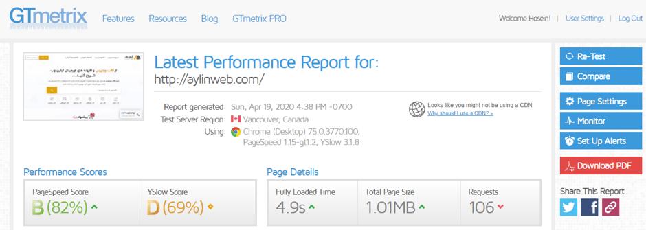 افزایش سرعت وب سایت