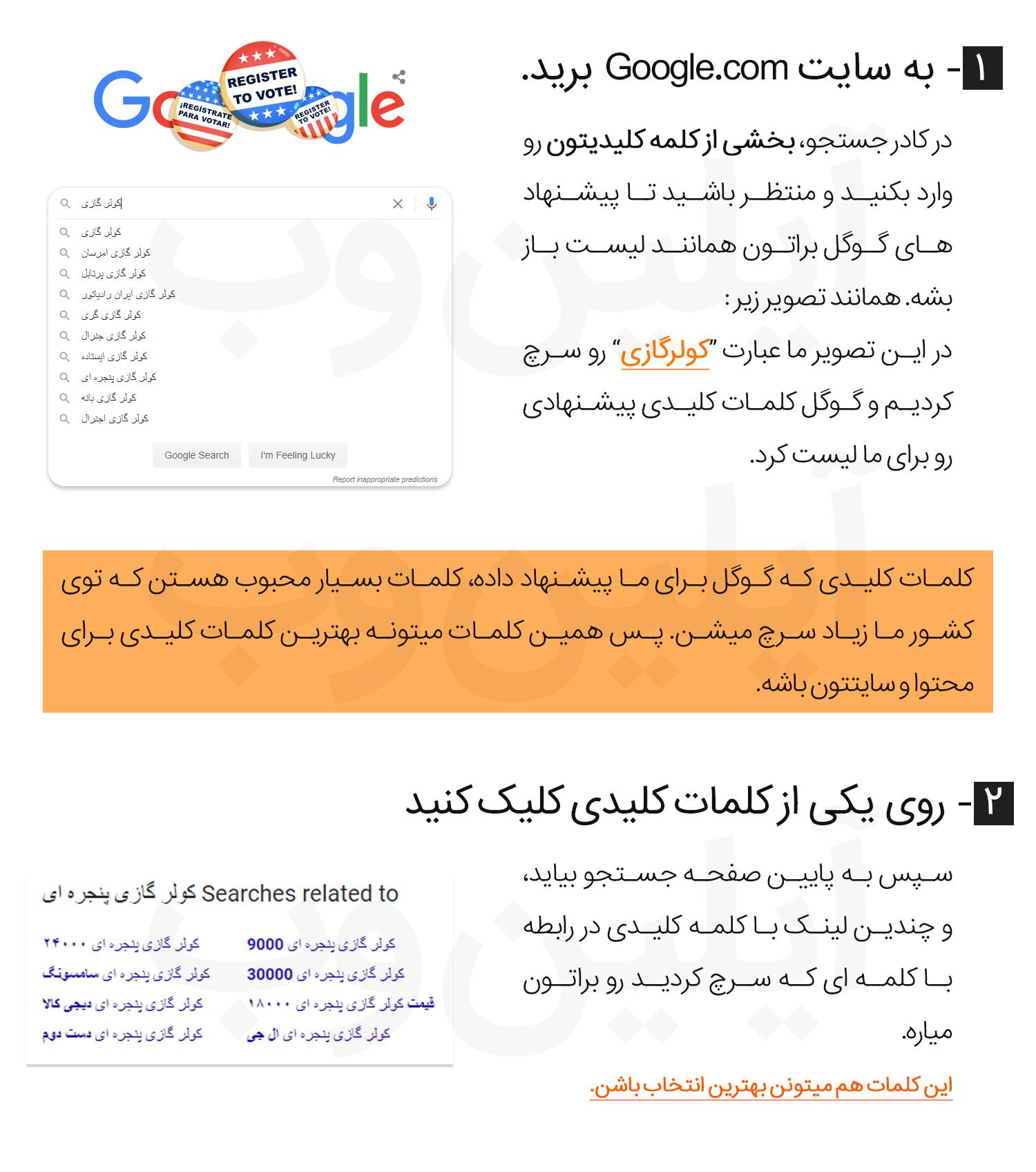 google search keywords 1 - آموزش انتخاب بهترین کلمات کلیدی (Keywords) برای محتوا + فیلم آموزشی