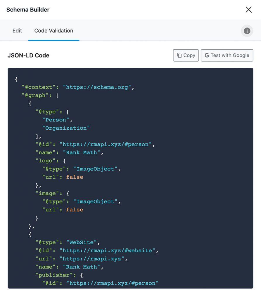 Pro Schema Code Validation
