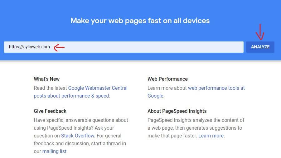 تست سرعت گوگل