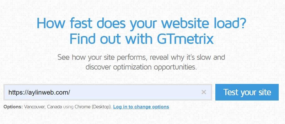 تست سرکت سایت در جی تی متریکس