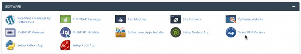 ورود به php selector در سی پنل