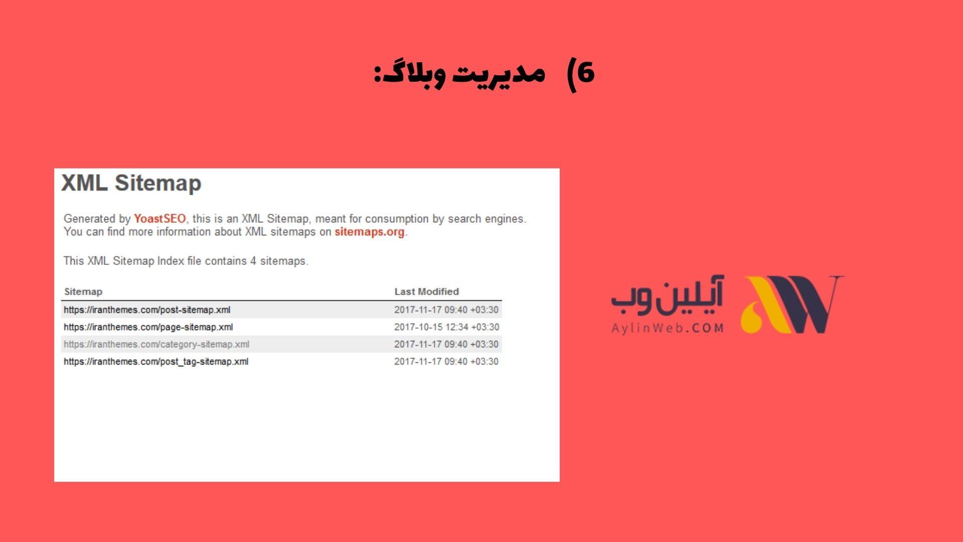 مدیریت وبلاگ: