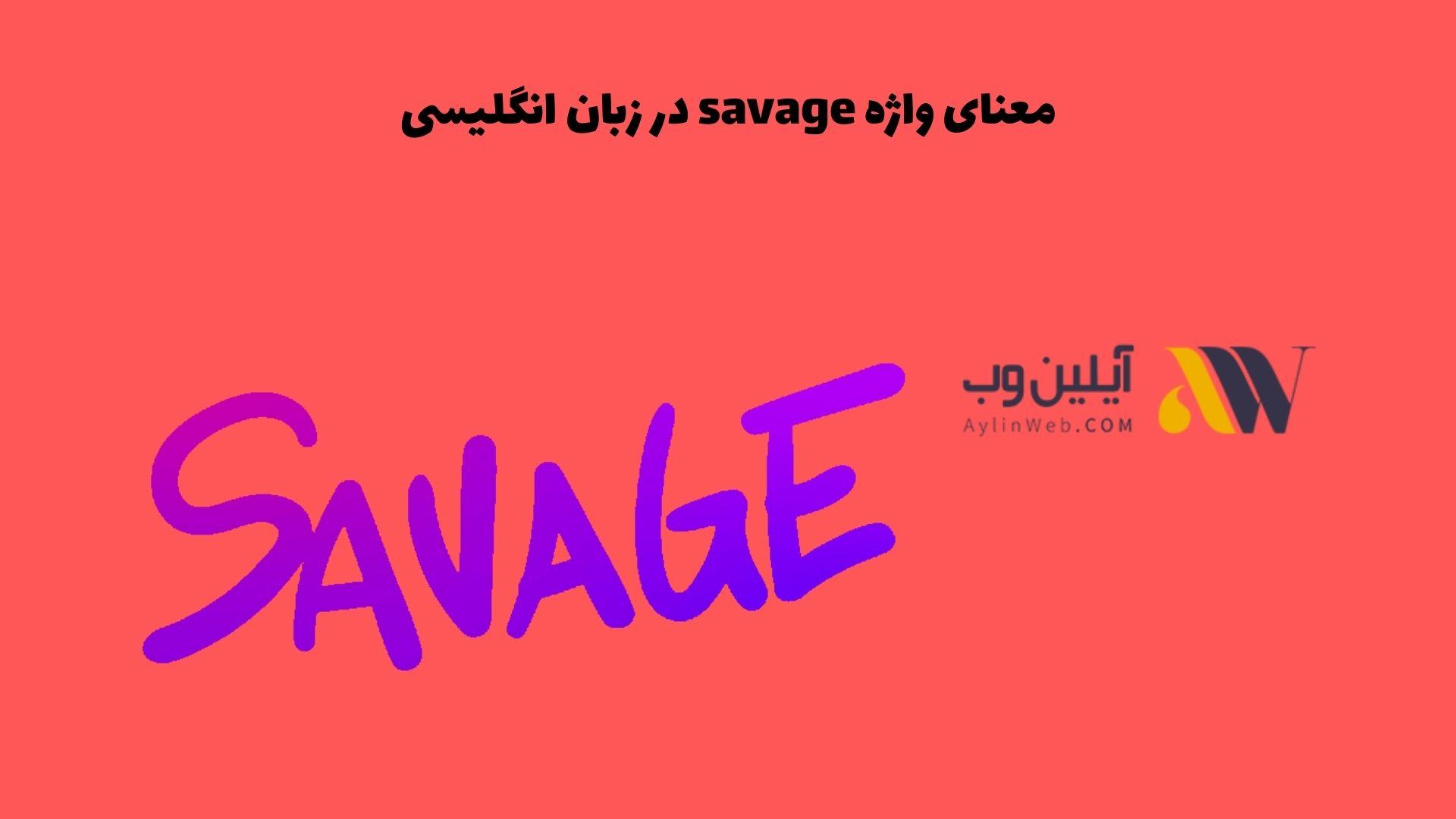 معنای واژه savage در زبان انگلیسی