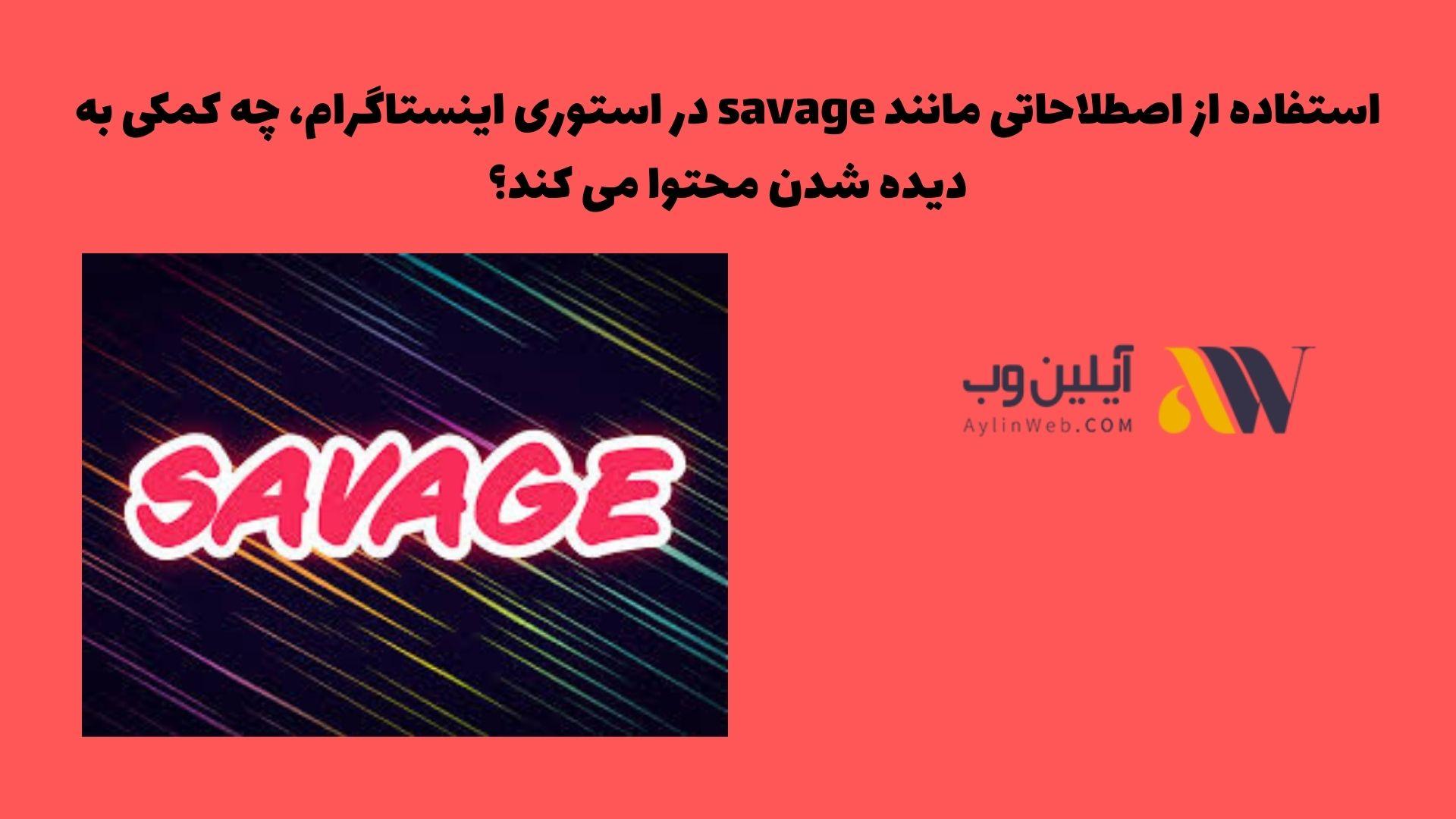 استفاده از اصطلاحاتی مانند savage در استوری اینستاگرام، چه کمکی به دیده شدن محتوا می کند؟